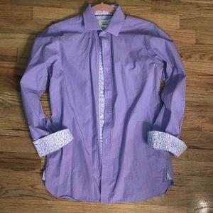 Ted Baker endurance button down 15 32/33 Purple